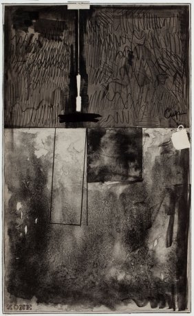 Jasper Johns (american, B. 1930) Zone Black Stat