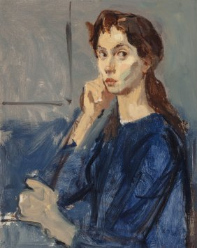 Moses Soyer (american, 1899-1974) Portait Of Cyn