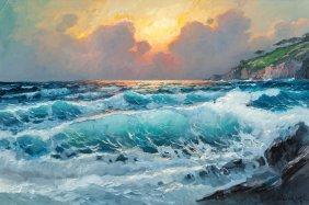 Alexander Dzigurski Ii (american, 1968) Seascape