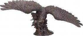 Twentieth Century School Bird Of Prey Bronze Wit