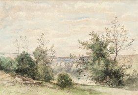 Henri-joseph Harpignies (french, 1819-1916) Look