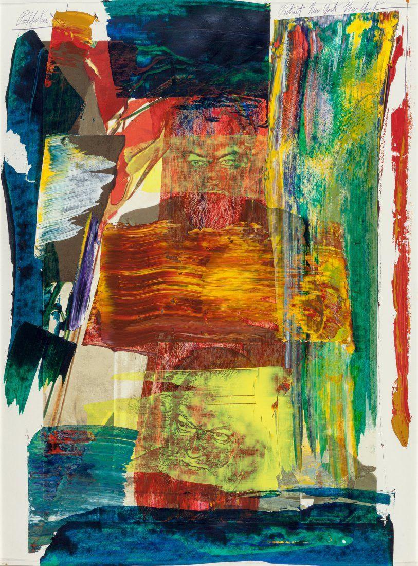 Paul Jenkins (American, 1923-2012) Portrait New
