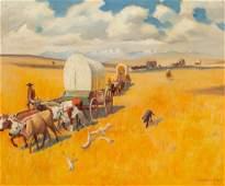 65611: Leonard Howard Reedy (American, 1899-1956) Wagon