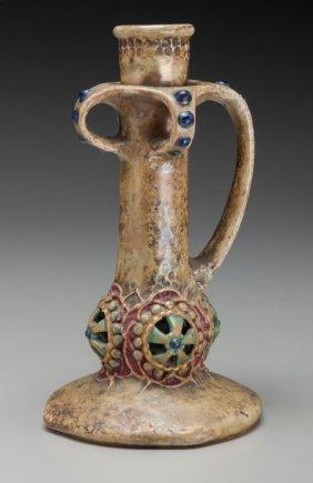 An Amphora Porcelain Works Parcel Gilt And Paint