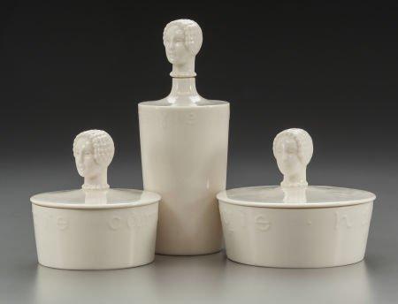 65780: Three Hattie Carnegie Ceramic Powder Boxes for L