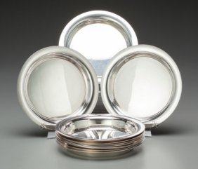 Eleven Christofle Silver-plated Bread And Butter