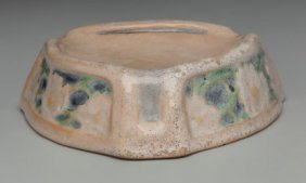A Newcomb College High Glazed Ceramic Ashtray At