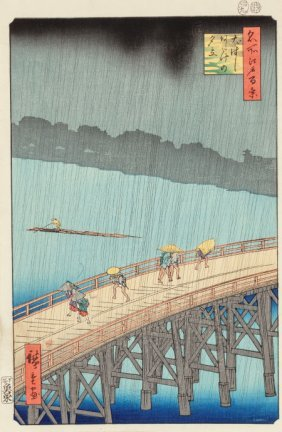 Ando Hiroshige (japanese, 1797-1858) One Hundred