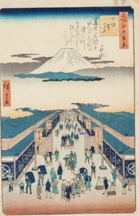 Ando Hiroshige (japanese, 1797-1858) Mountain Vi