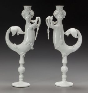 A Pair Of Bjorn Wiinblad Rosenthal Porcelain Can