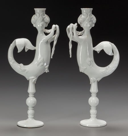 65920: A Pair of Bjorn Wiinblad Rosenthal Porcelain Can