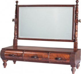 An Edwardian Mahogany Shaving Mirror On Stand, L
