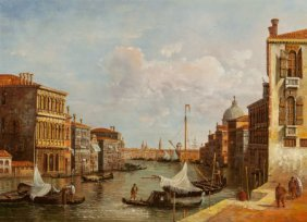 Italian School (20th Century) Pair Of Venetian S