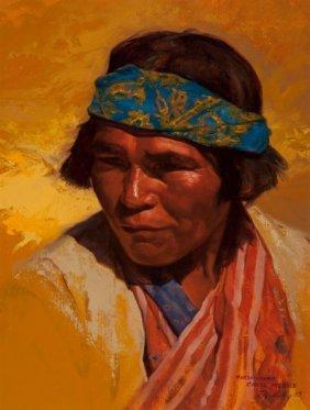 Paul Mullally (american, B. 1947) Tarahumara, Cr