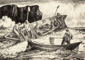 Robert Von Neumann (american, 1888-1976) Fishing