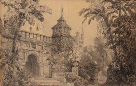 Carlo Ferrario (italian, 1833-1907) The Gardens