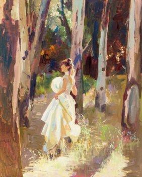 Neil Boyle (american, 1931-2006) Lady In Woods O