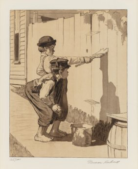Norman Rockwell (american, 1894-1978) Tom Sawyer
