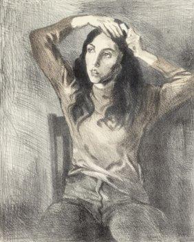 Raphael Soyer (american, 1899-1987) Girl Combing