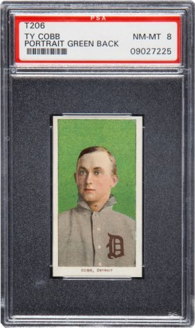 1909-1911 T206 Piedmont Ty Cobb (green Portrait)