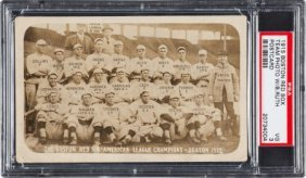 1915 Boston Red Sox With Rookie Babe Ruth Real P