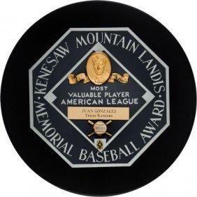 1996 Juan Gonzalez American League Most Valuable