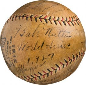 "1927 New York Yankees Team Signed Baseball. ""we"