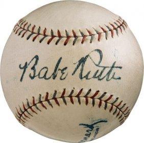 1928 Babe Ruth, Lou Gehrig & Miller Huggins Sign