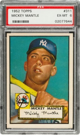 1952 Topps Mickey Mantle #311 Psa Ex-mt 6. If W