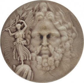 1906 Athens Summer Olympics Silver Medal. More T