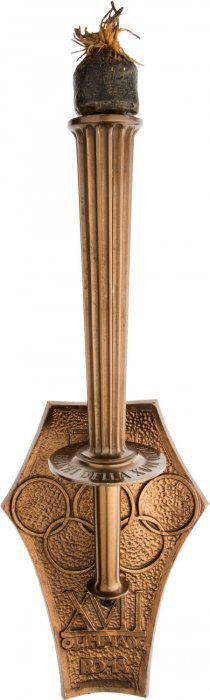 1960 Rome Summer Olympics Final Torch Of The Fla