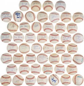 Nba's Fifty Greatest Players Single Signed Baseb