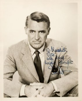 A Cary Grant Signed Black And White Photograph,