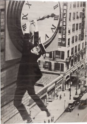 "A Harold Lloyd Signed Poster From ""safety Last!,"