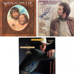 Country Music Superstars - Willie Nelson, George