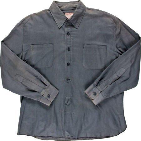 """89042: A John Wayne Shirt from """"The Cowboys."""" Warner Br"""