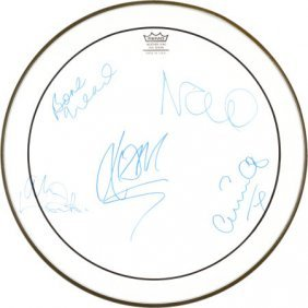 Oasis Signed Remo Drumhead. An Unused, Transluc