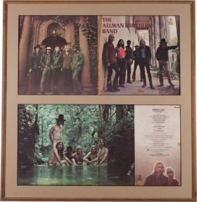 Allman Brothers Signed Debut Album Cover Framed
