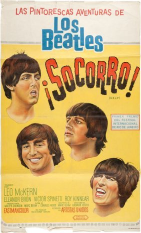 Beatles - An Argentinean Poster From Help! (aka