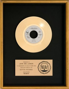 "Beatles - John Lennon ""woman"" Riaa Gold Record A"