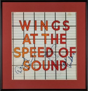 Beatles - Wings Signed At The Speed Of Sound Lp