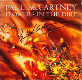 Beatles - Paul Mccartney Signed Flowers In The D