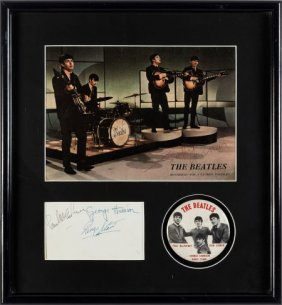 Beatles - Autographed Display A 1963 Parlophone