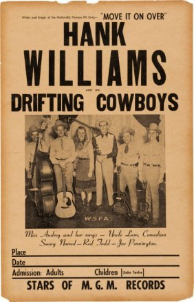 Hank Williams Concert Poster (1949). While Hank