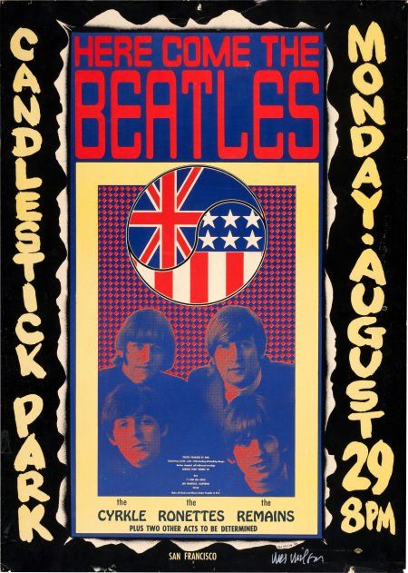 Beatles Candlestick Park Concert Poster Signed b