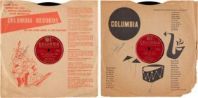 Frank Sinatra Signed Set Of Two 78s (1947/1955).
