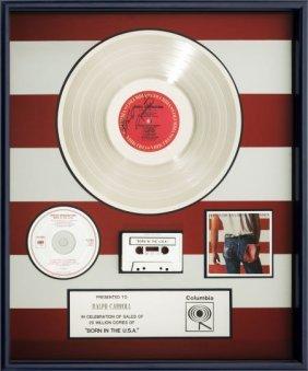 Bruce Springsteen Born In The Usa Platinum Album