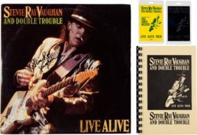 Stevie Ray Vaughan Signed Live Alive Lp (epic E2