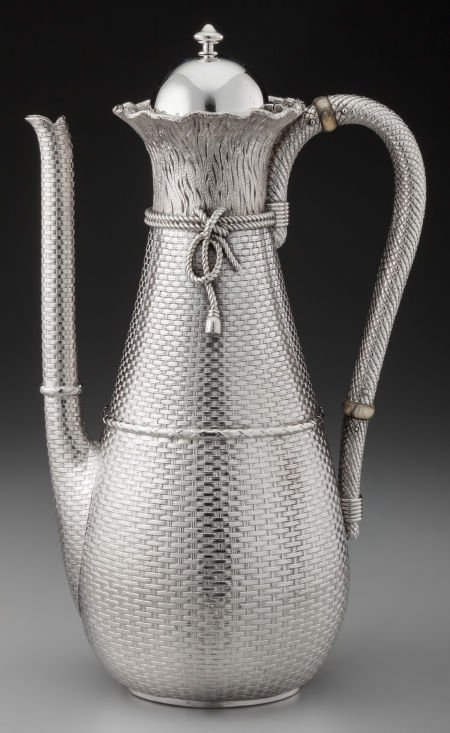 74015: A Whiting Mfg. Co. Silver Coffee Pot with Trompe
