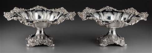 A Pair of Graff, Washbourne and Dunn Silver Foot